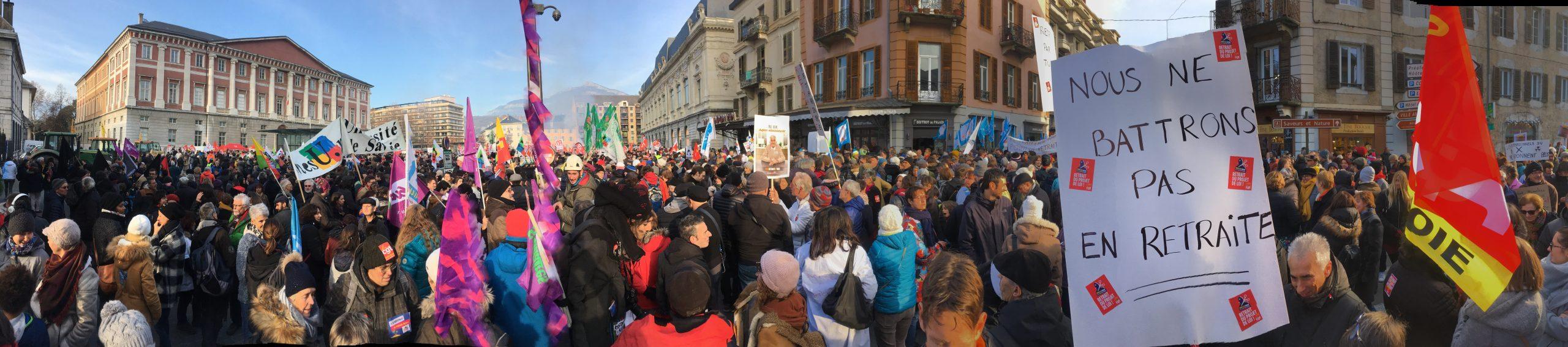 Manifestation du 5 décembre à Chambéry